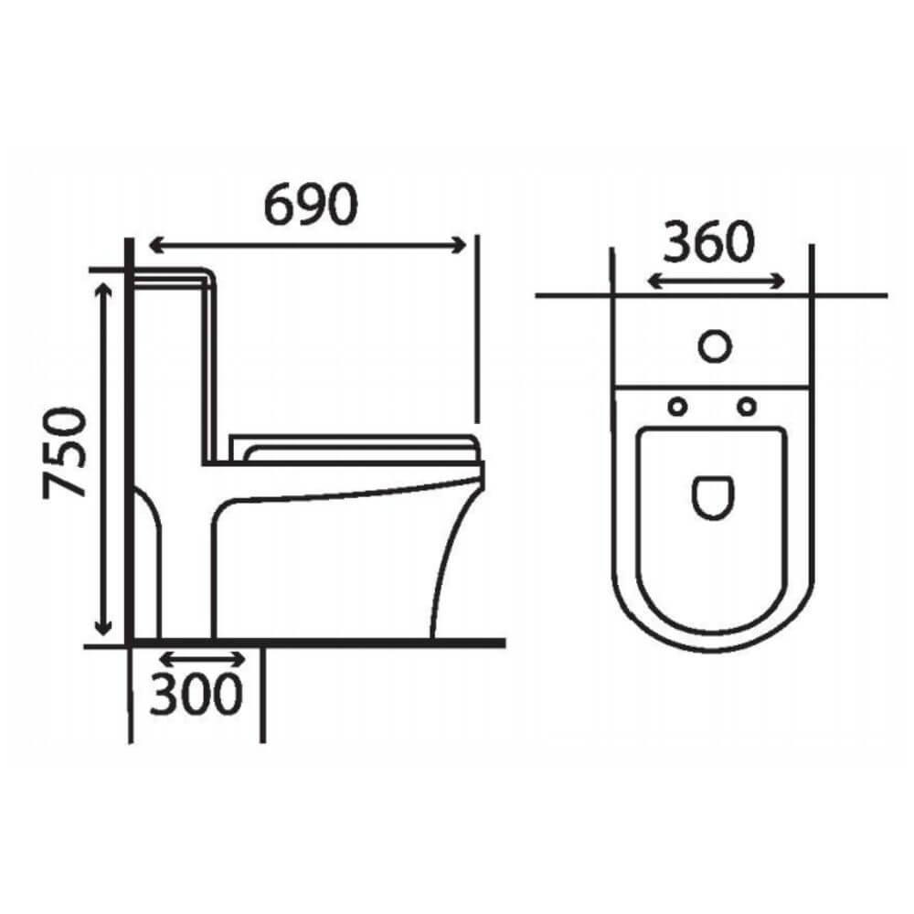 Kích thước Bồn Cầu Một Khối NERVIN NVBC903 width=