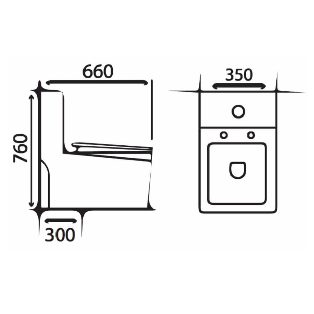 Kích thước Bồn Cầu Một Khối NERVIN NVBC908 width=