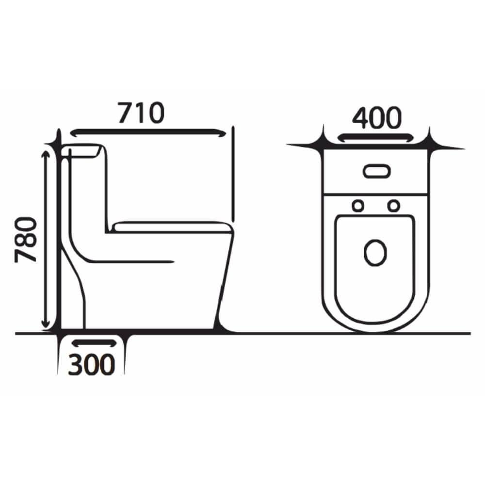 Kích thước Bồn Cầu Một Khối NERVIN NVBC909 width=