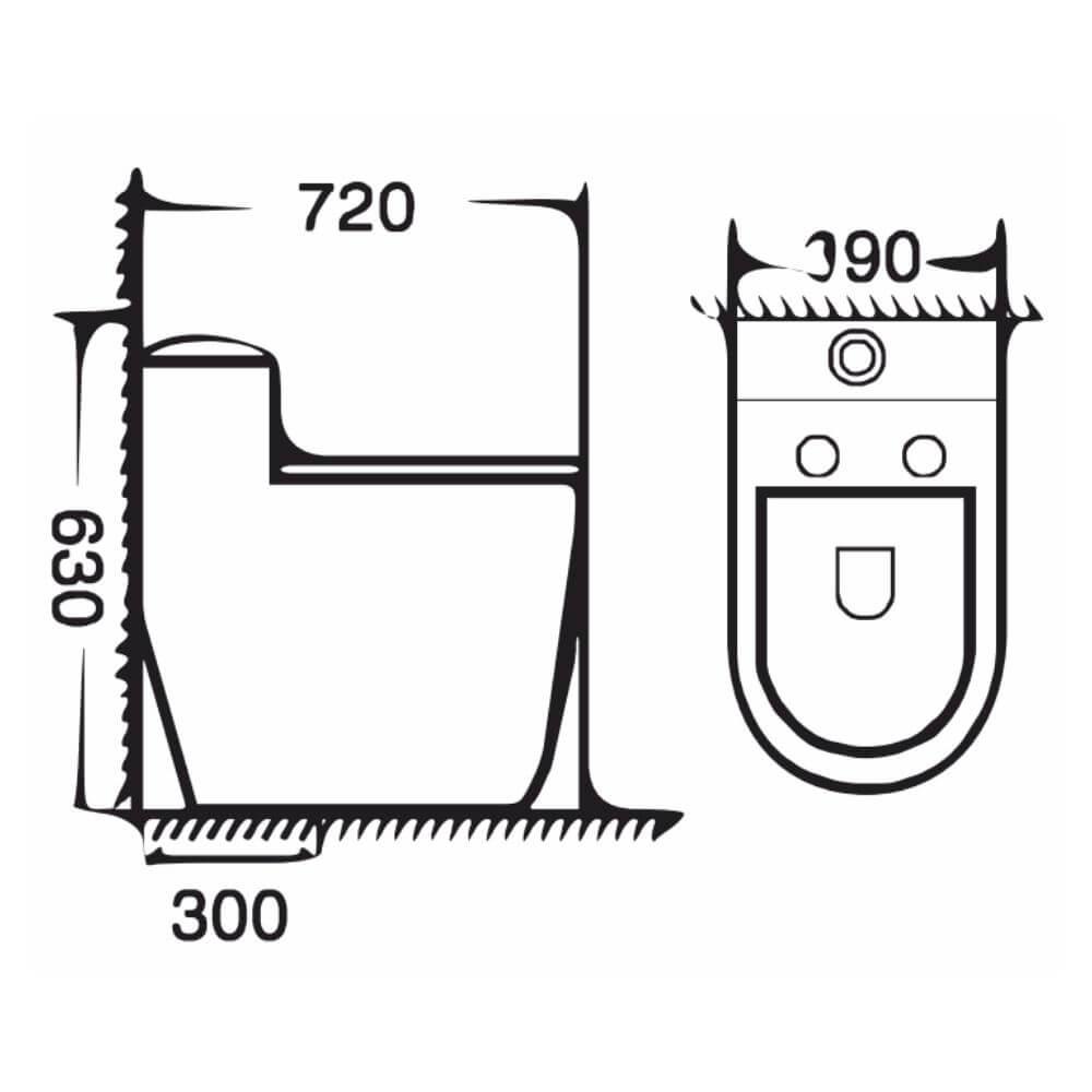 Kích thước Bồn Cầu Một Khối NERVIN NVBC968 width=