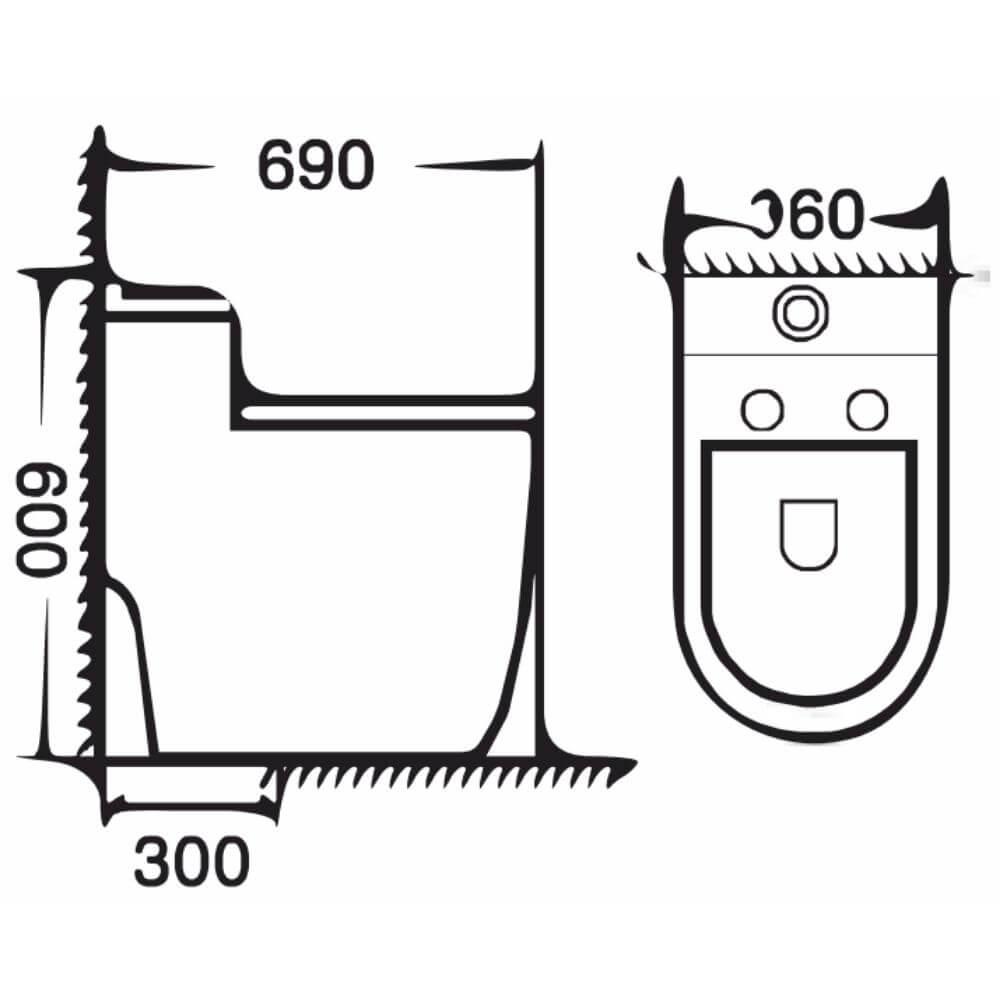Kích thước Bồn Cầu Một Khối NERVIN NVBC967 width=