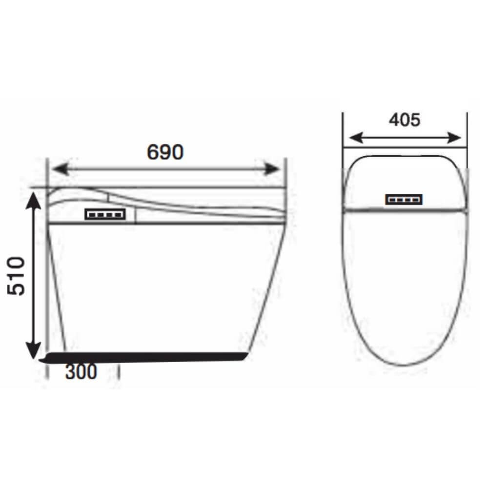 Kích thước Bồn Cầu Một Khối NERVIN NVBC913 width=