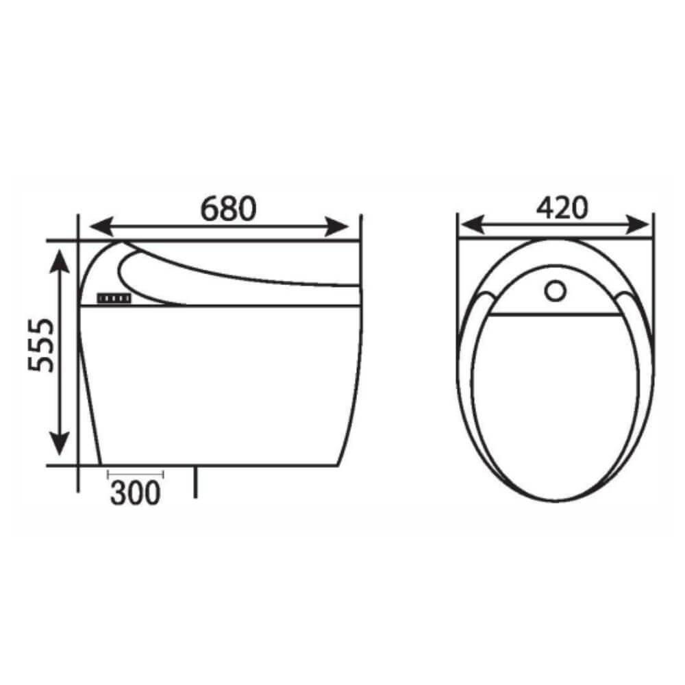 Kích thước Bồn Cầu Một Khối NERVIN NVBC605 width=